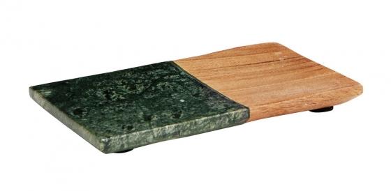 groen marmer met houten schaaltje Madam Stoltz