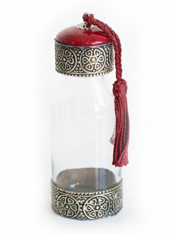 Marokkaans flesje glas kwastje