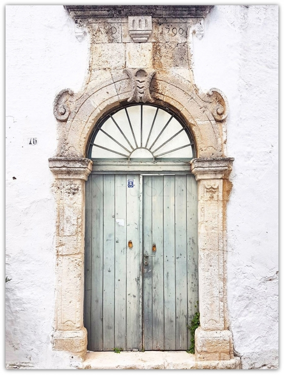 Poster old door Ostuni / Italy