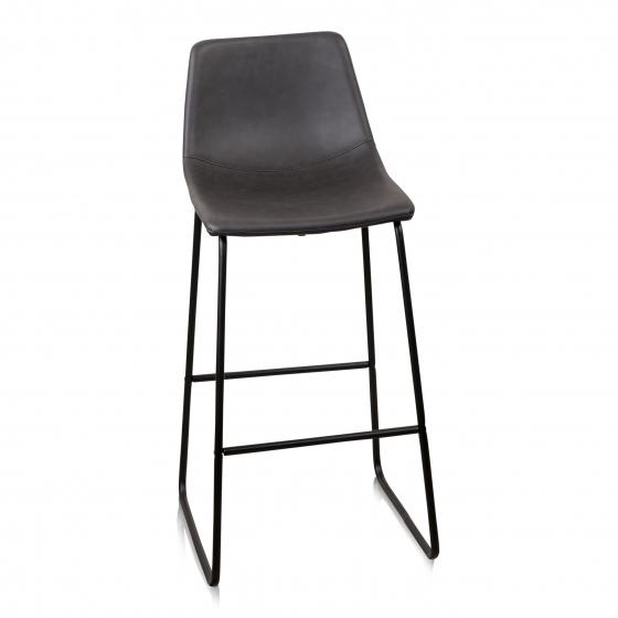 Bar stoel kruk zwart leer