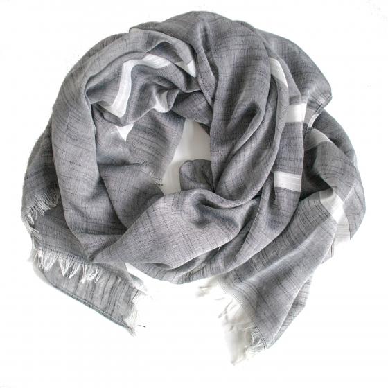 sjaal grijs wit