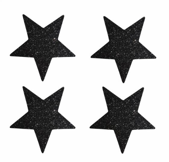 zwarte glittersterren