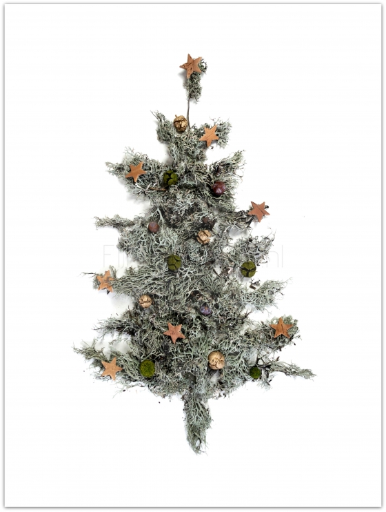 Kerstboom poster rustic