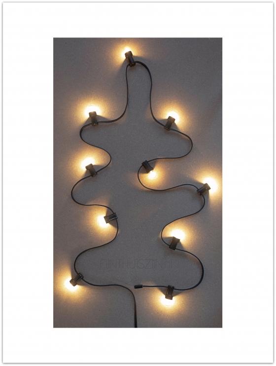 Kerstboom poster industrieel lampslinger