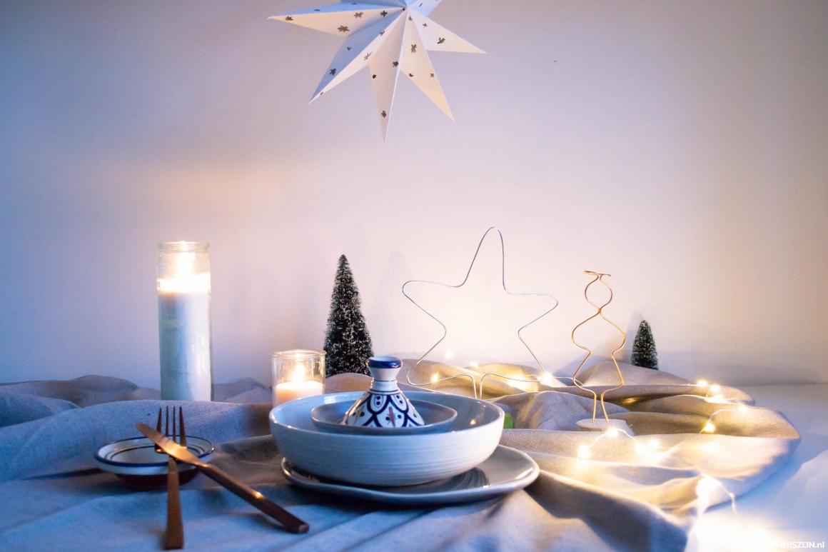 Kerst tafeldecoratie DIY