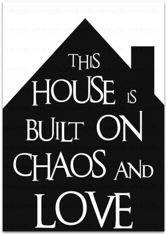 zwart wit poster huis