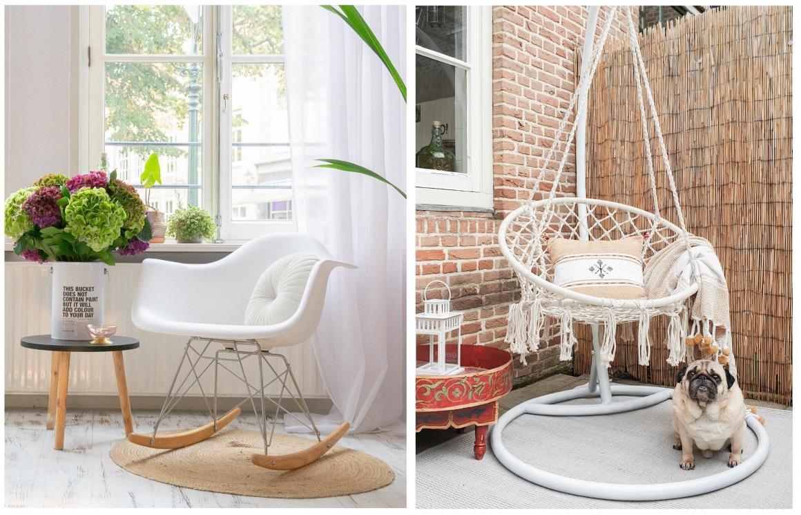 woontrend stoelen schommelstoel hangstoel