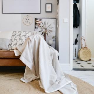 grand foulard beige zand