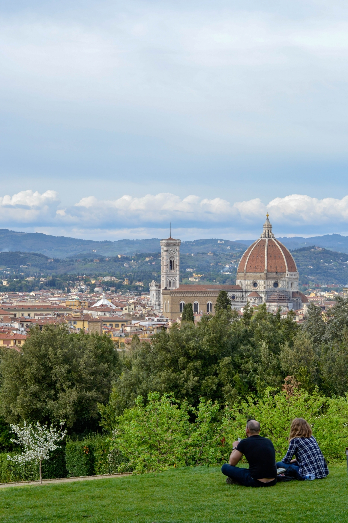 Uitzicht Florence vanuit Boboli tuinen
