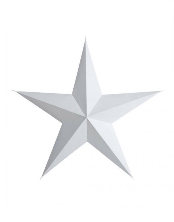 witte papieren ster