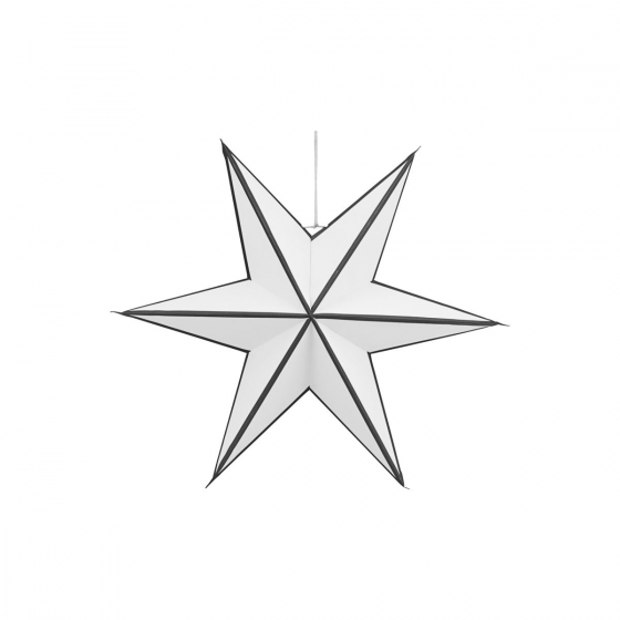 papieren ster zwart wit