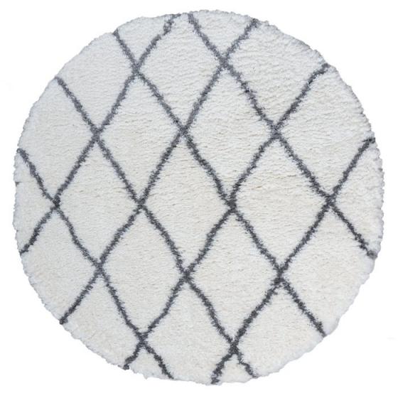 Rond vloerkleed berber ruit patroon