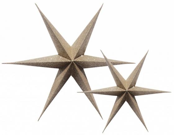 kerst ster papier goud glitter